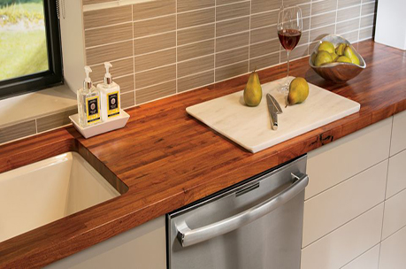 Mesquite edge grain countertop